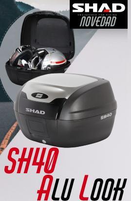 Nueva maleta SH40 Shad Look Aluminio